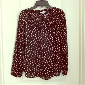 2/30$ black and white Polk dot blouse